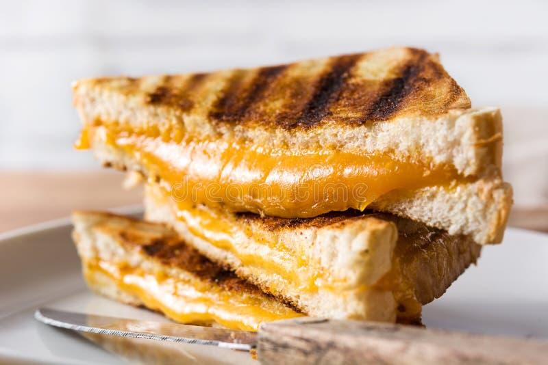Panino arrostito del formaggio fotografie stock libere da diritti