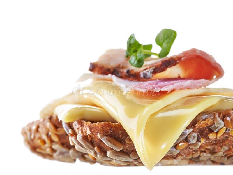Panino con formaggio fuso immagine stock