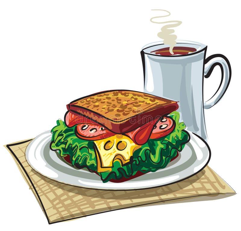 Panino con la salsiccia royalty illustrazione gratis