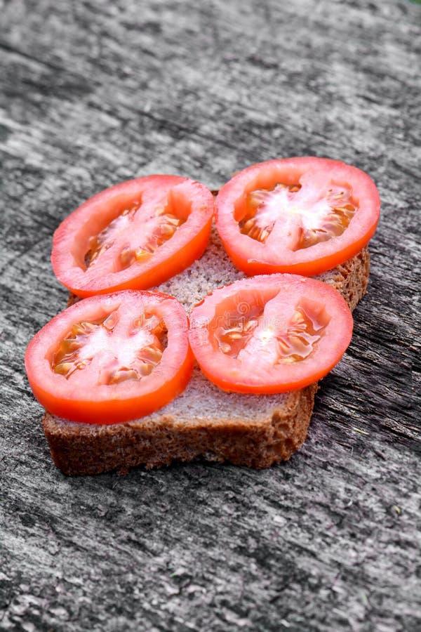 Panino con tomato fotografia stock libera da diritti
