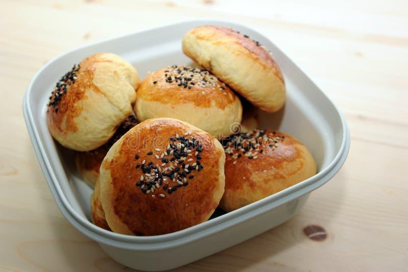 Panino del pane in contenitore immagine stock libera da diritti
