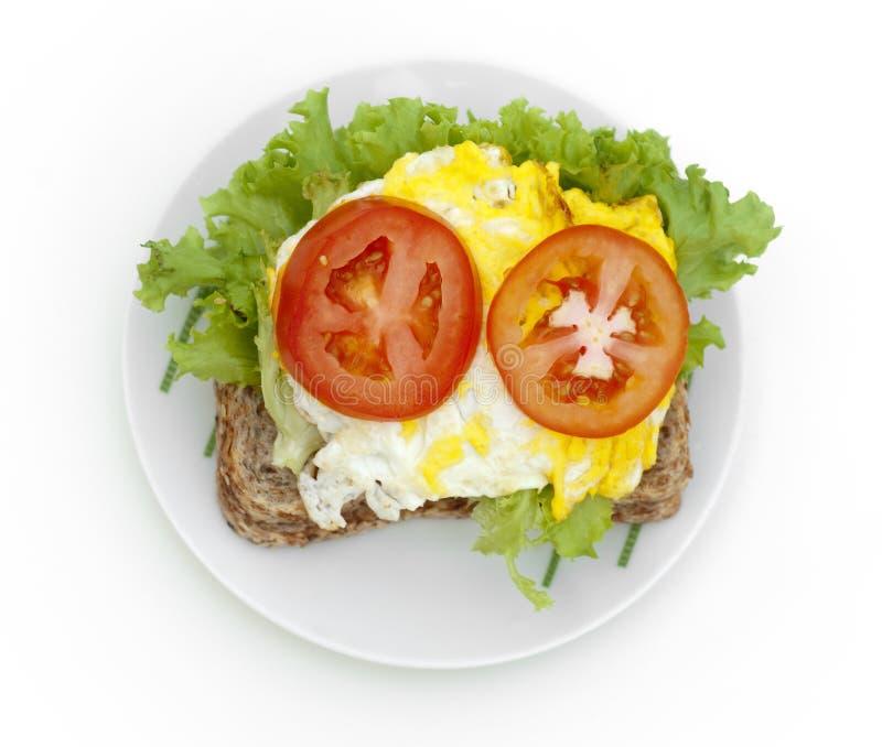 Panino dell'uovo fotografie stock