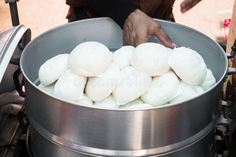 Panino della roba cotto a vapore cinese, panino dello gnocco immagine stock libera da diritti