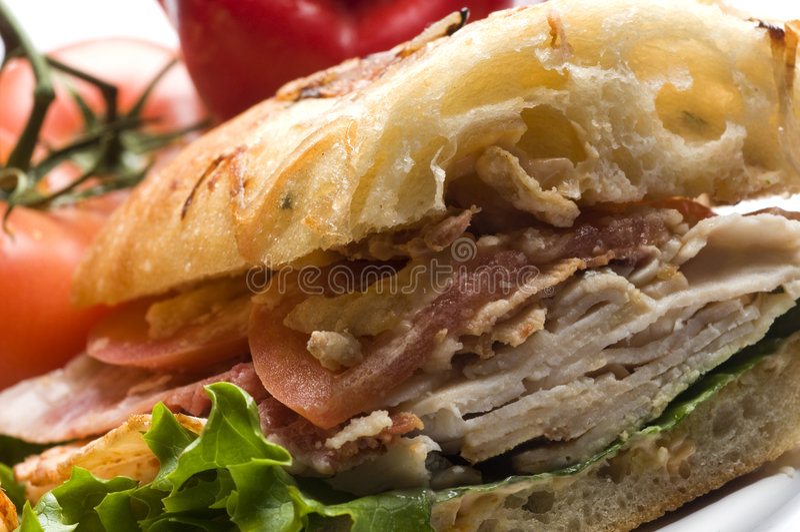 Panino di pollo gastronomico fotografia stock libera da diritti