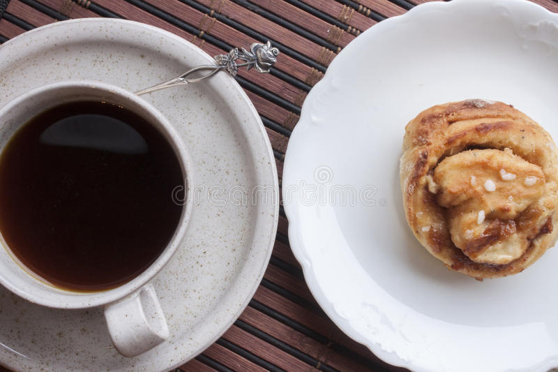 Panino e caffè fotografia stock