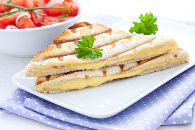 Panino fresco con formaggio fotografia stock