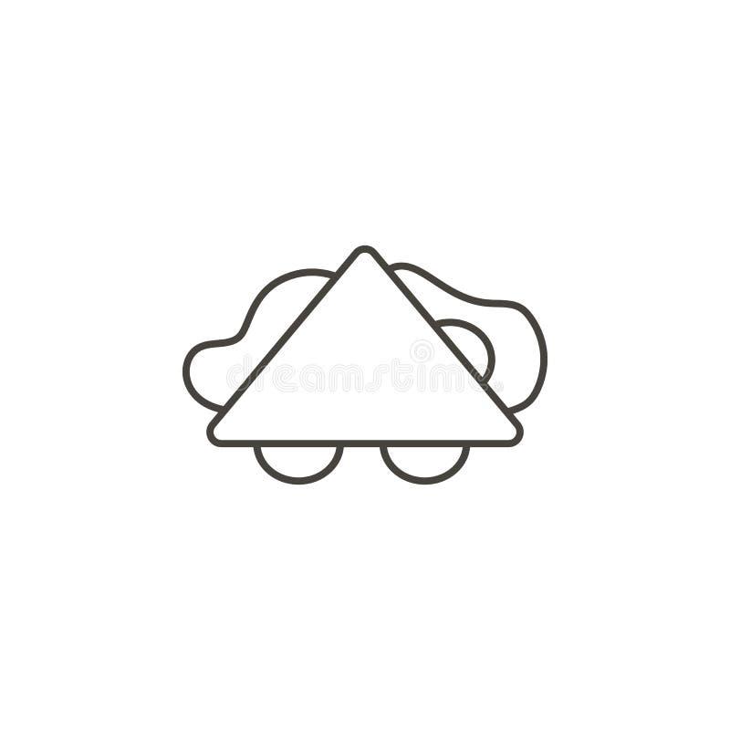 Panino, icona di vettore delle baguette Illustrazione semplice dell'elemento dal concetto dell'alimento Panino, icona di vettore  illustrazione vettoriale
