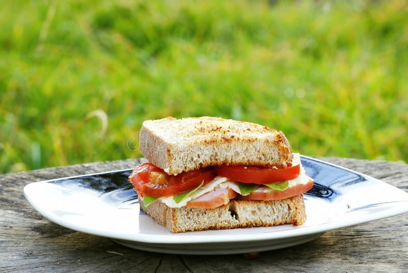 Panino per la prima colazione fotografia stock