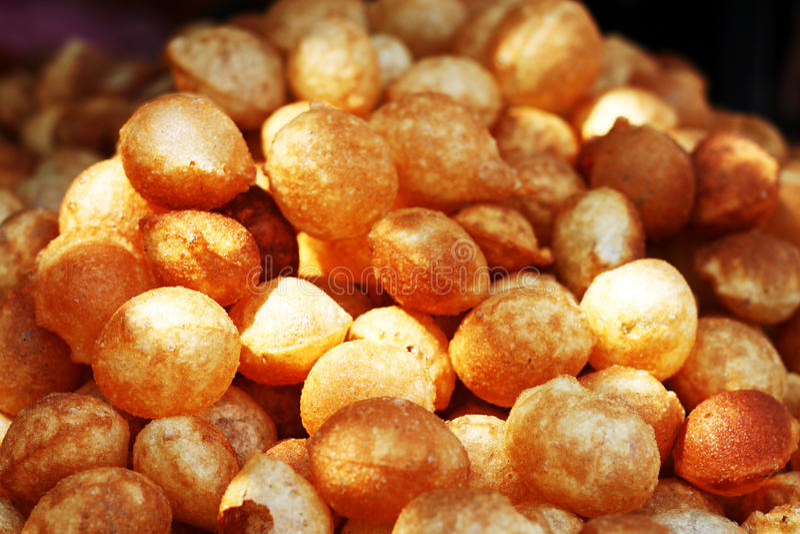 Panipuri/golgappa, Indian snacks royalty free stock image