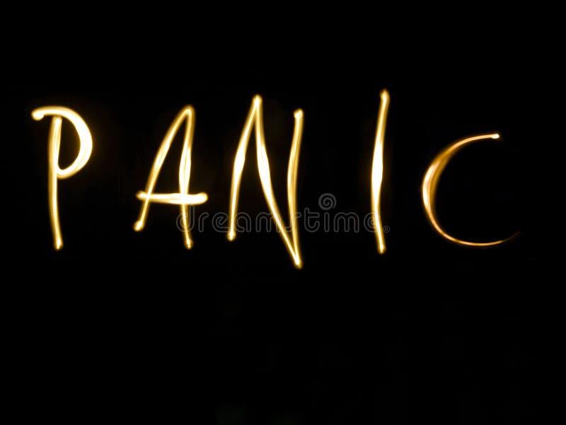 panique illustration stock
