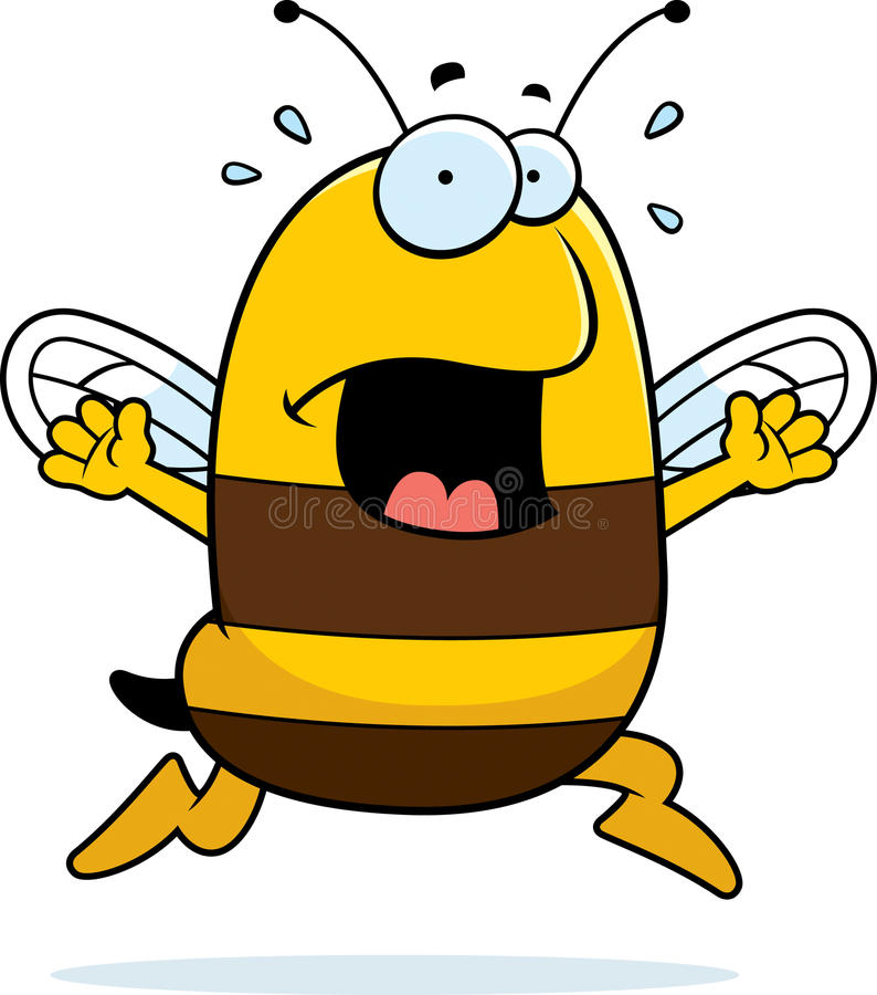 Panique d'abeille illustration de vecteur