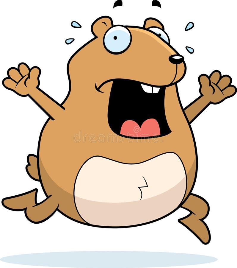 Panique de hamster illustration libre de droits