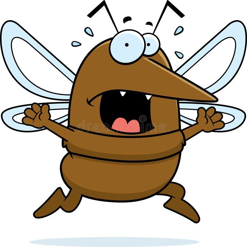 Panique de moustique illustration de vecteur