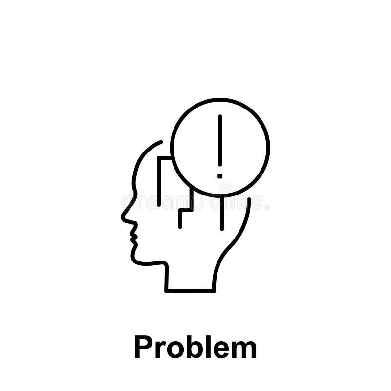 Panique, exclamation, icône principale Élément du nom créatif de witn d'icône de thinkin Ligne mince icône pour la conception de  illustration stock