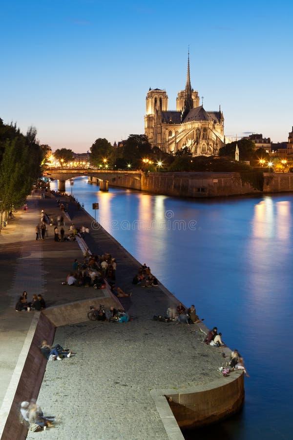 paniusi katedralny notre Paris zdjęcie royalty free
