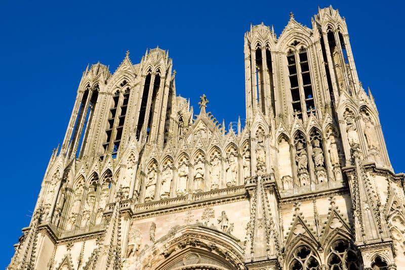 paniusi katedralny notre Reims obraz royalty free