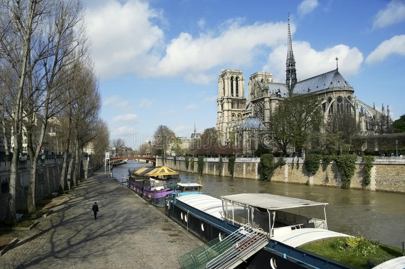 paniusi notre Paris obrazy stock