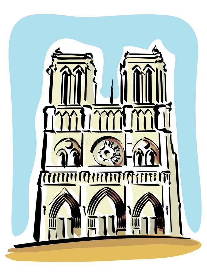 paniusia De Notre Paris royalty ilustracja