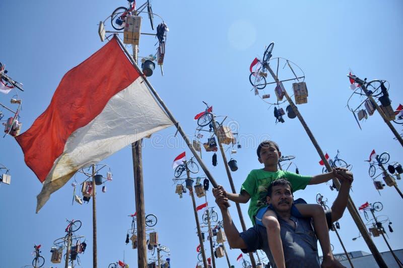 Panjat Pinang στοκ φωτογραφία με δικαίωμα ελεύθερης χρήσης