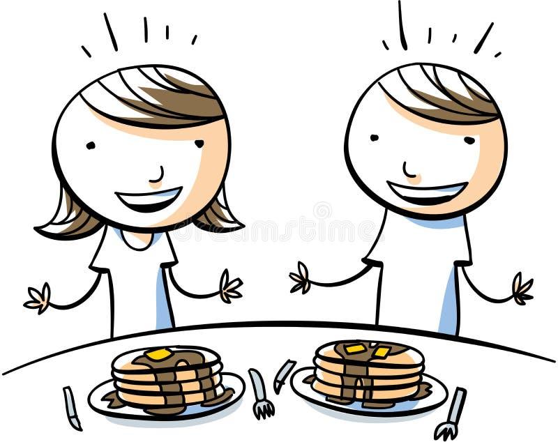 Pankcake dzieci royalty ilustracja