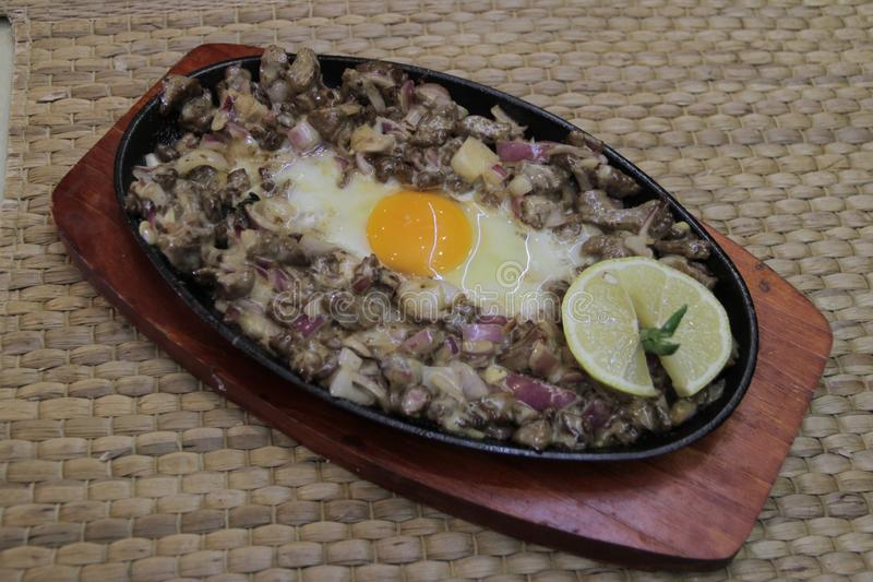 Panlasang pinoy Crispy Pork Sisig stock photography