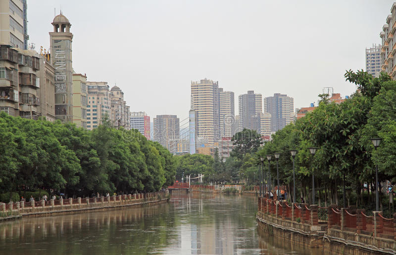 Panlong River in the center of Kunming city royalty free stock photography