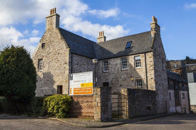 Panmure hus i Edinburg royaltyfria foton