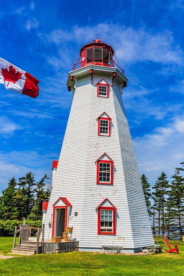 Panmure-Insel-Leuchtturm, PEI, Kanada stockfotos