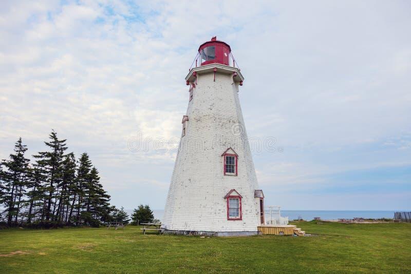 Panmure-Kopf-Leuchtturm auf Prinzen Edward Island stockbilder