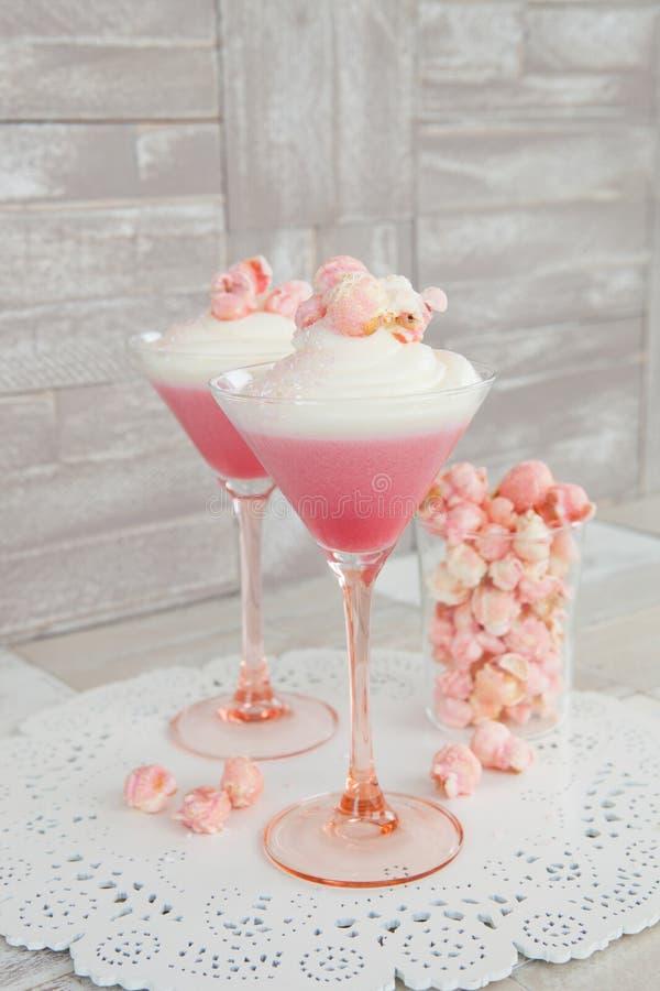 Free Panna Cotta With Popcorn Royalty Free Stock Photo - 105250415