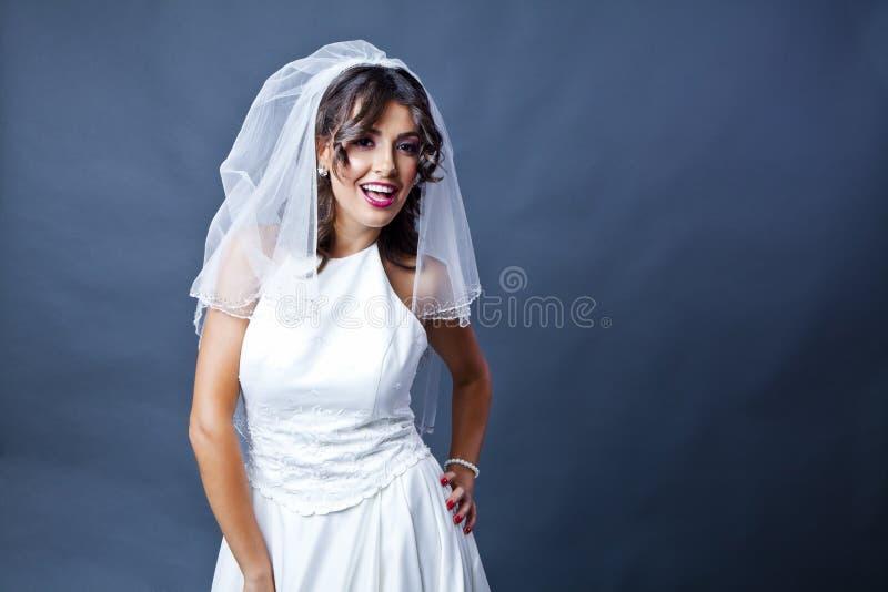 Panna młoda ślubny portret zdjęcie stock