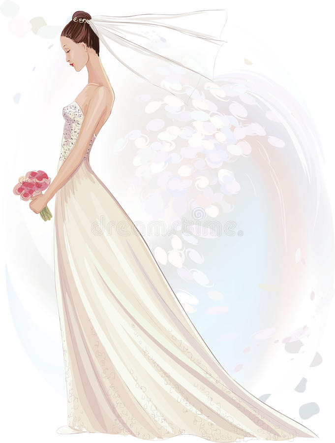 Panna młoda royalty ilustracja