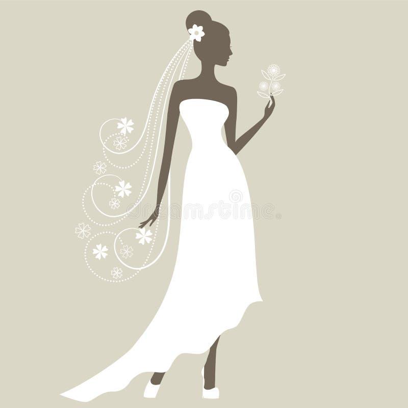 Panna młoda ilustracja wektor