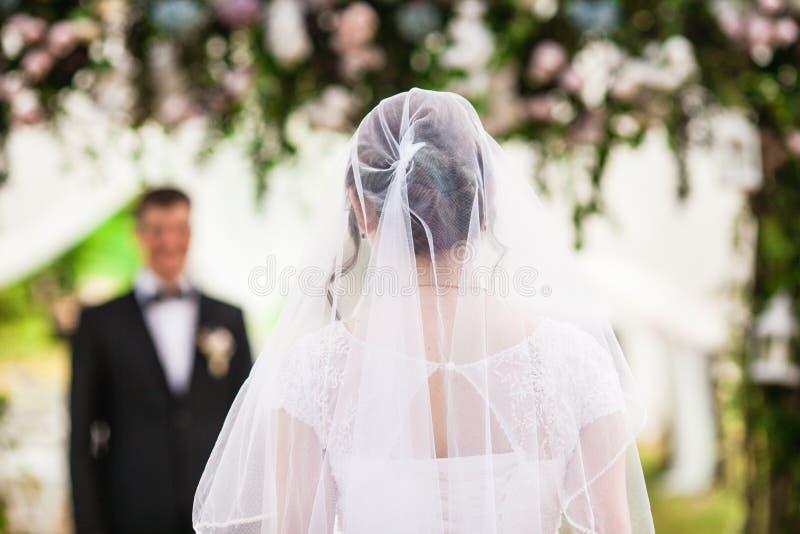 Panna młoda dostaje zamężną zdjęcia royalty free