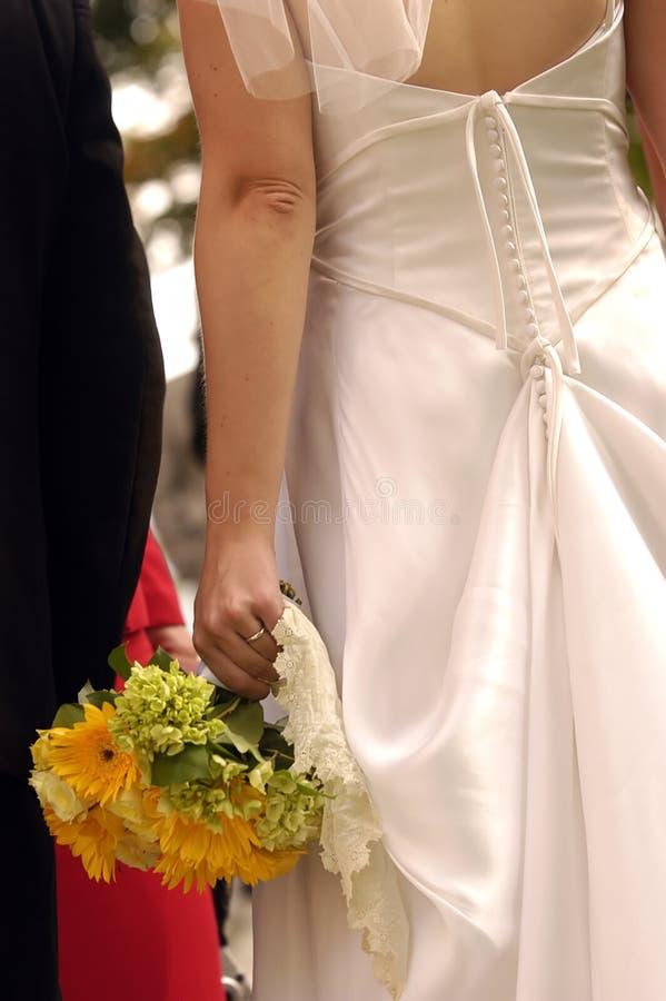 panna młoda poślubić kwiatów zdjęcie royalty free
