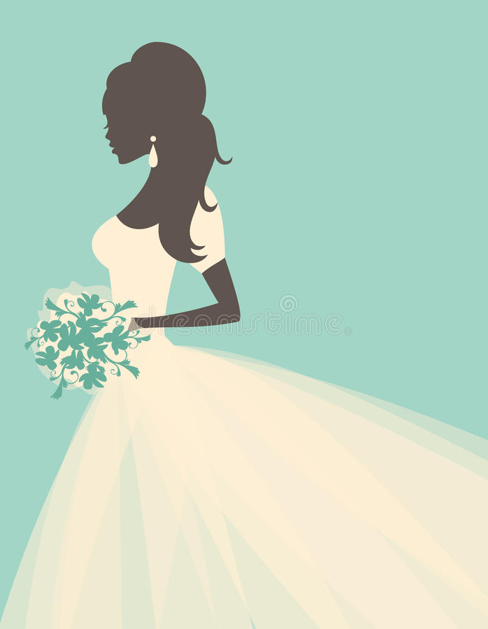 panna młoda romantyczna royalty ilustracja