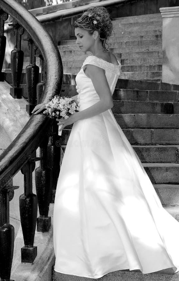 panna młoda sukienka ślub obraz royalty free