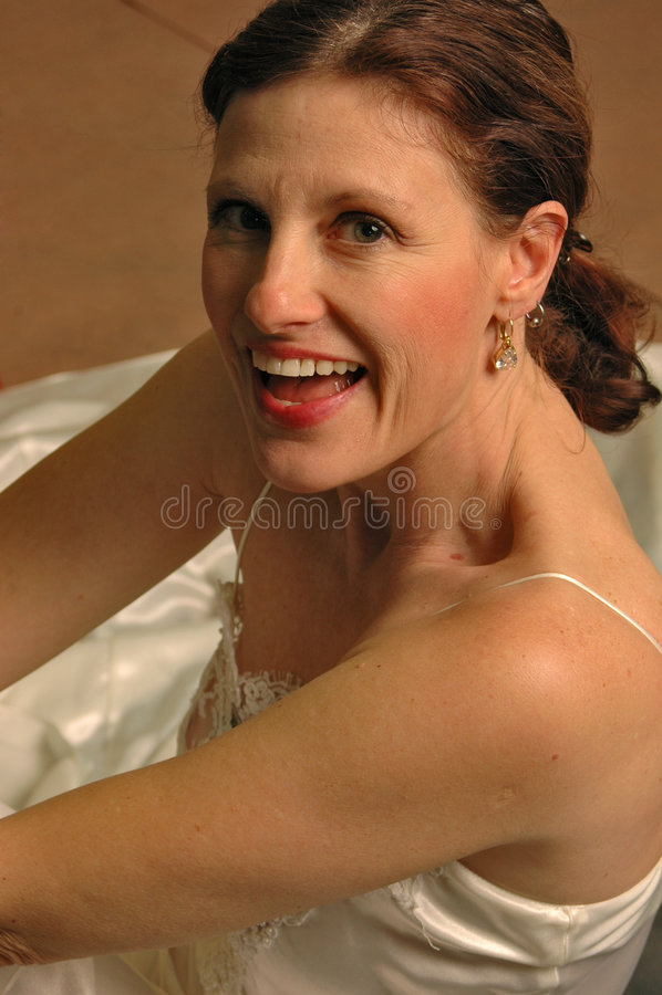 panna młoda szczęśliwa fotografia royalty free