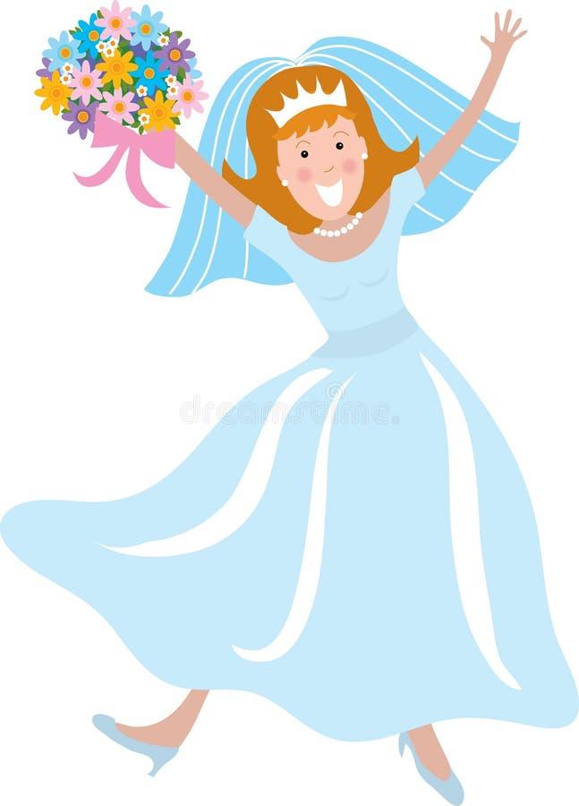 panna młoda szczęśliwa royalty ilustracja