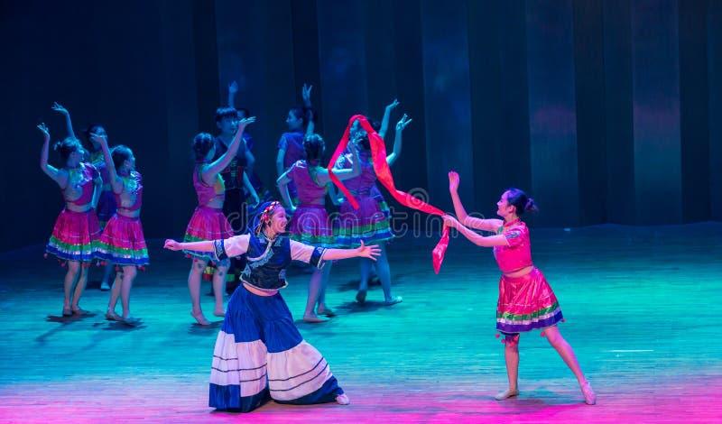 Panna młoda tana dramata Axi Yi ludowy taniec zdjęcie royalty free