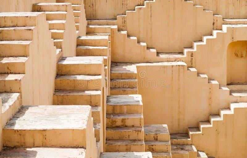 Panna Meena-Ka Kund-Schritt-gut, Jaipur, Rajasthan, Indien lizenzfreies stockfoto