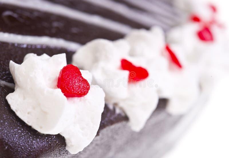 Panna montata sul dolce di cioccolato immagine stock libera da diritti