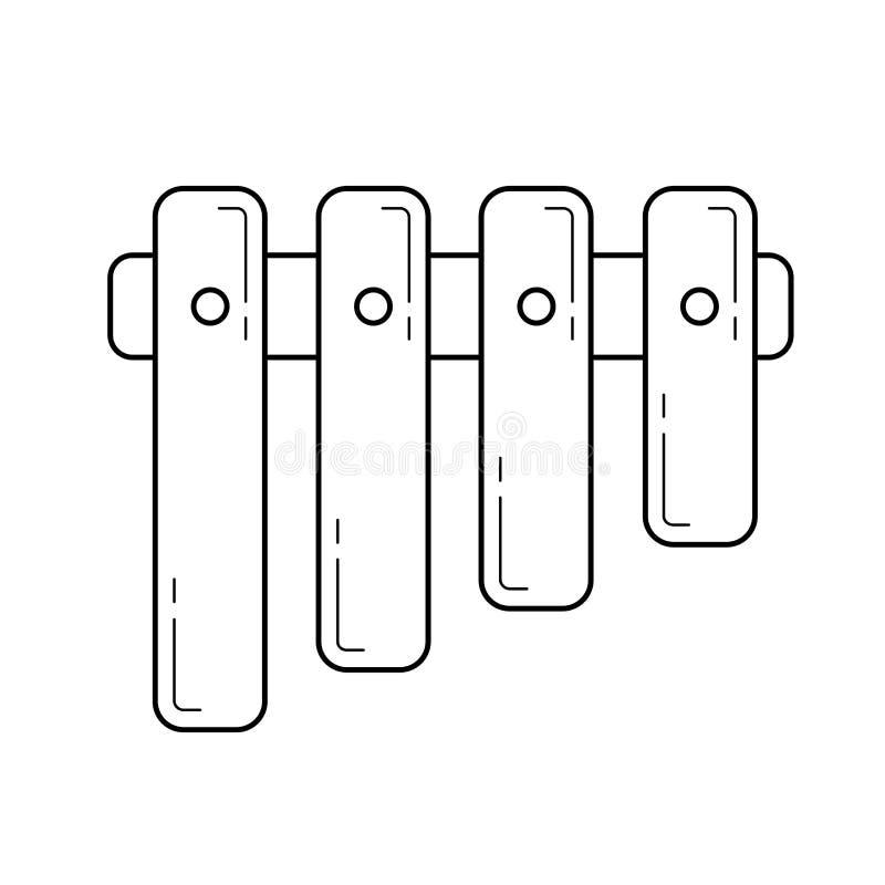 Pannaflöjtlinje symbol royaltyfri illustrationer