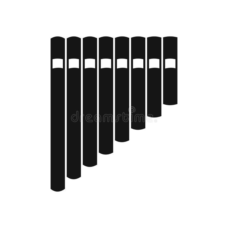 Pannaflöjtsymbol, enkel stil stock illustrationer