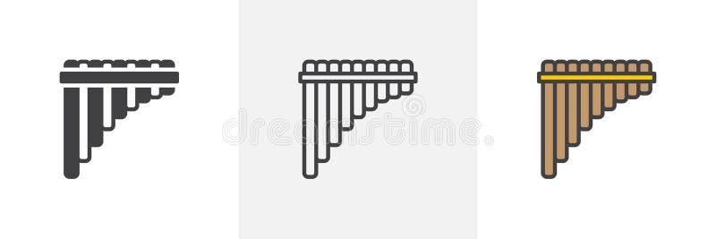 Pannaflöjtsymbol vektor illustrationer