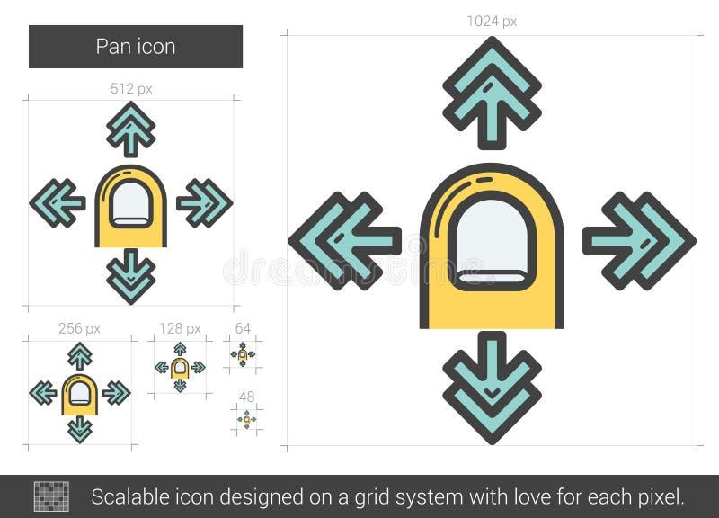 Pannalinje symbol stock illustrationer