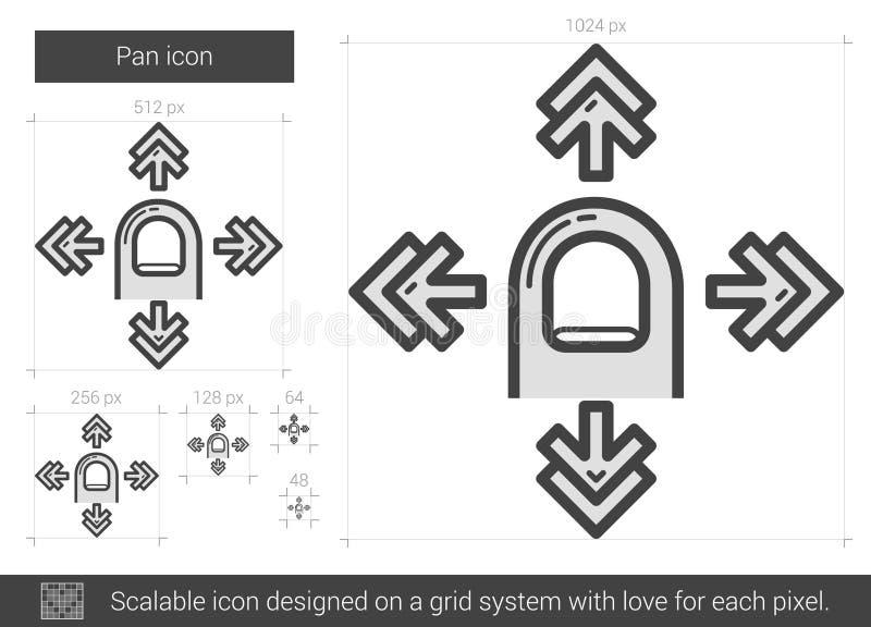 Pannalinje symbol royaltyfri illustrationer