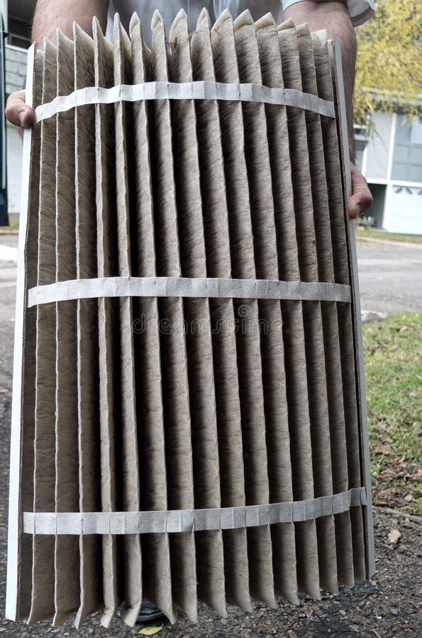 Pannavärmeapparaten luftar filtrerar arkivfoto