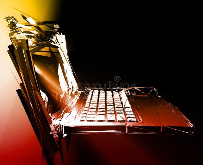 Panne de panne d'ordinateur illustration de vecteur