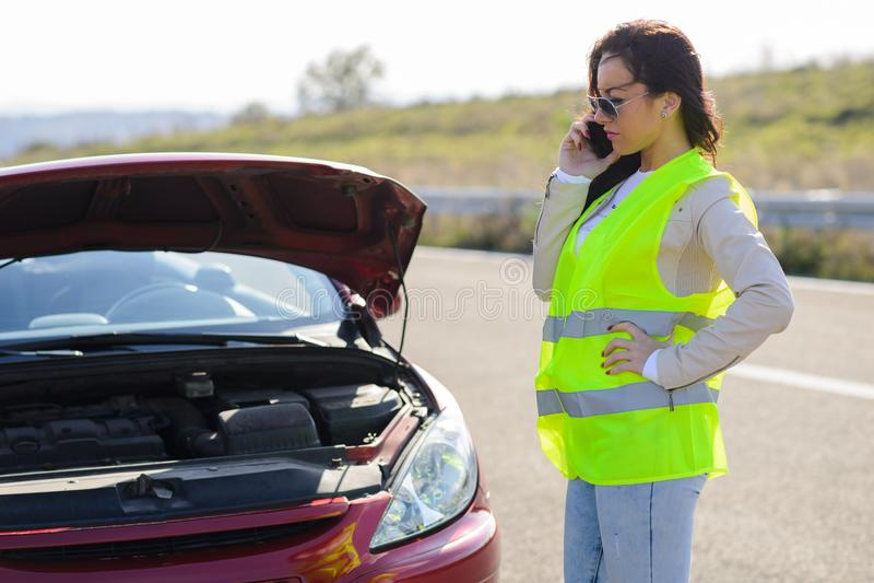 Panne de véhicule photos stock